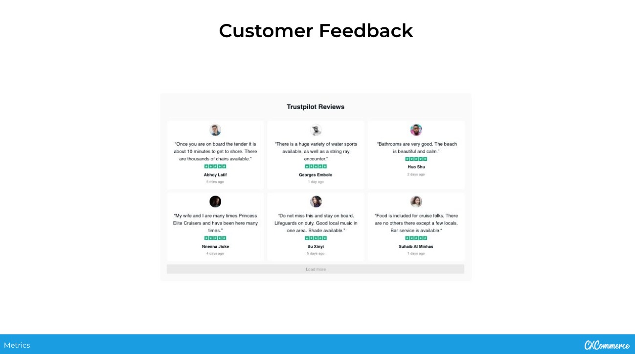 Customer Experience Metric - Customer Feedback Examples